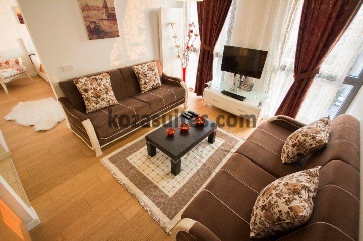 divan g plus ve güneşli wyndham grand europe vip eşyalı günlük kiralık daire residence